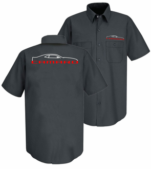 Camaro 5th Generation Silhouette Mechanic Shirt
