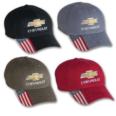 Chevrolet Gold Bowtie Stars and Stripes Cap