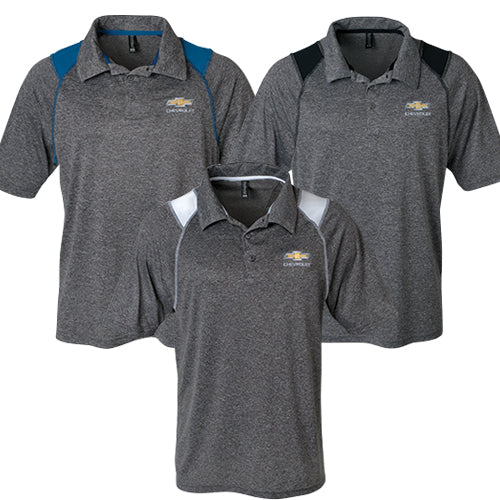 Men's Chevrolet Gold Bowtie Mystic Heather Polo
