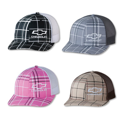 Chevrolet Bowtie Plaid Trucker Cap