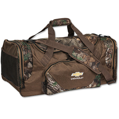 Chevrolet Gold Bowtie Big Game Realtree Camo Duffel