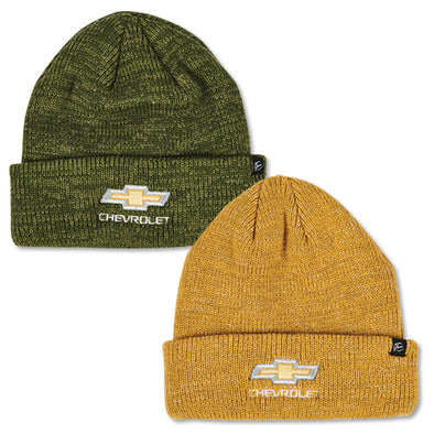 Chevrolet Gold Bowtie Heathered Knit Beanie