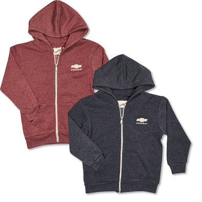 Chevrolet Youth Gold Bowtie Parker Fleece Hoodie
