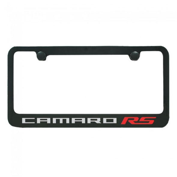 Camaro RS License Plate Frame - Black Gloss