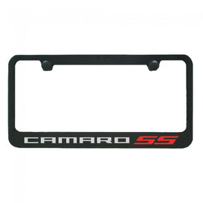 Camaro SS License Plate Frame - Black Gloss