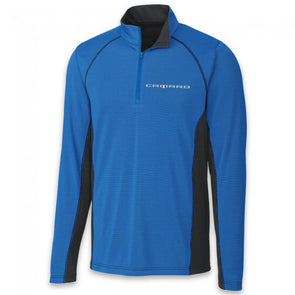 Camaro Colorblock Half Zip Fleece - Royal/Black