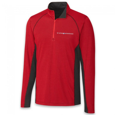 Camaro Colorblock Half Zip Fleece - Red/Black