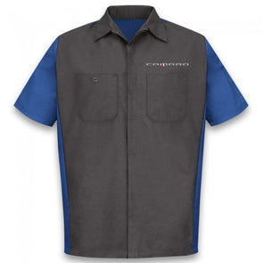 Camaro Short Sleeve Crew Shirt - Black/Royal
