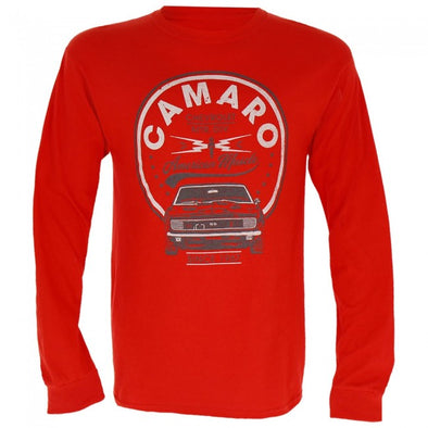 Camaro American Muscle Long Sleeve Tee - Heather Red