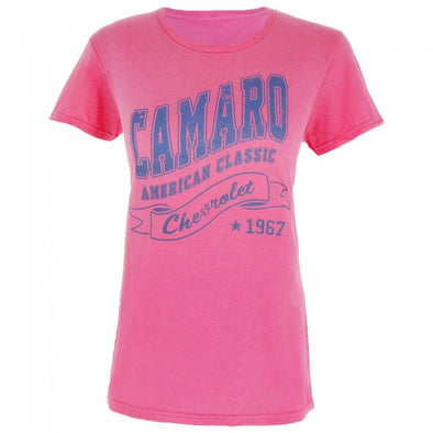 Camaro 1967 American Classic Ladies Tee - Hot Pink