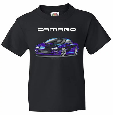 2000 Camaro Black Tee - Youth