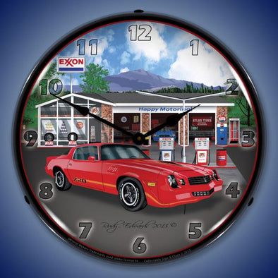 Lighted 1979 Z28 Camaro Exxon Clock