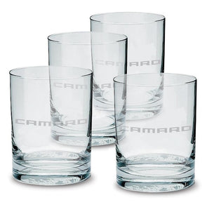 Camaro Etched Glassware - Double Old-Fashioned