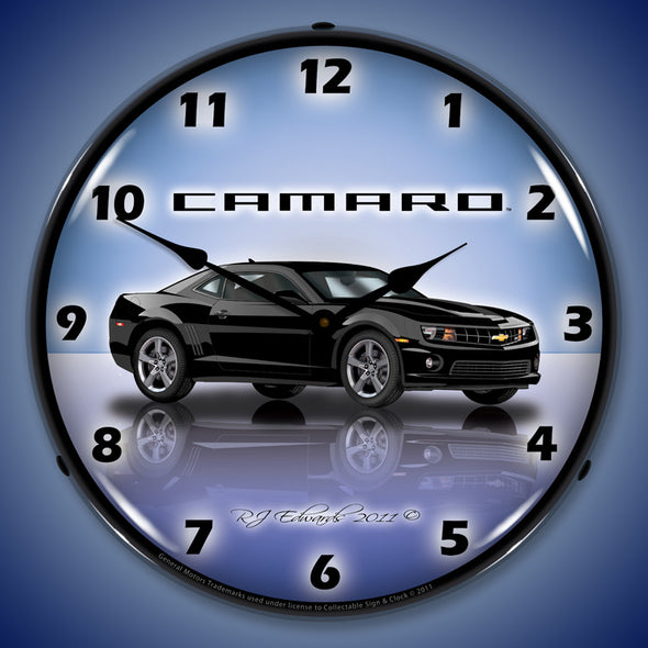 Lighted Camaro G5 Black Clock