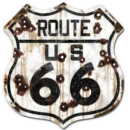 Route 66 Weathered Road Sign