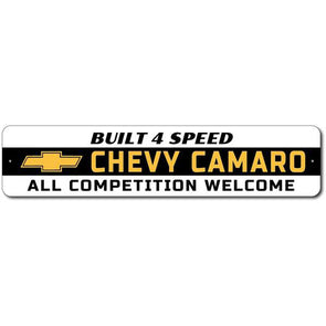 Camaro - Built 4 Speed - Aluminum Sign