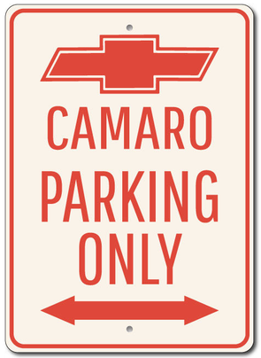 Camaro Parking Only - Aluminum Sign