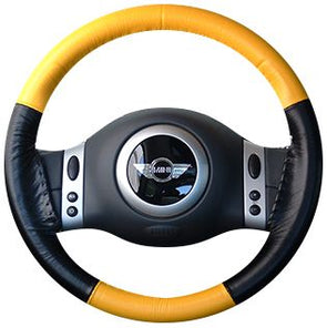 Wheelskins - EuroTone Two-Color Leather Steering Wheel Covers