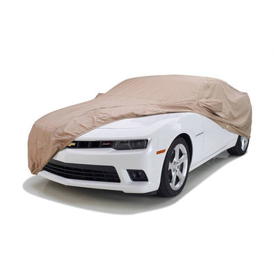 Camaro Tan Flannel Indoor Car Cover