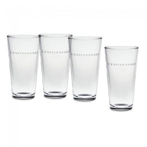 Camaro Etched Brew Glass Set - 20 oz