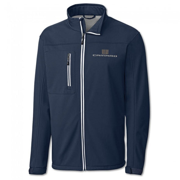 Camaro Hood Stripes Waterproof Shoft Shell Jacket - Dark Navy