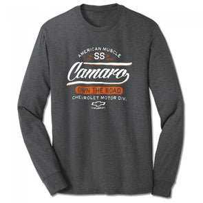 Camaro SS Own The Road Long Sleeve Tee - Graphite Heather