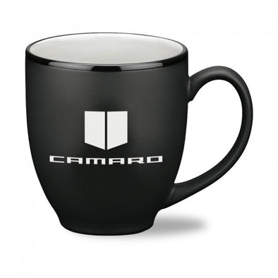 Camaro Satin Black Mug - Black/White