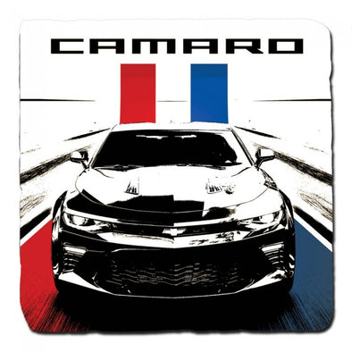 Camaro Red White Blue Stone Coaster