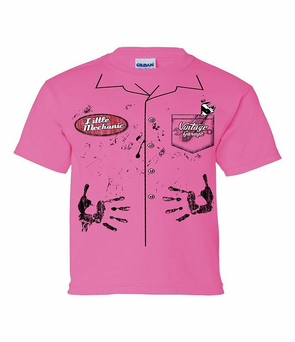 Little Mechanic Youth Tee - Pink