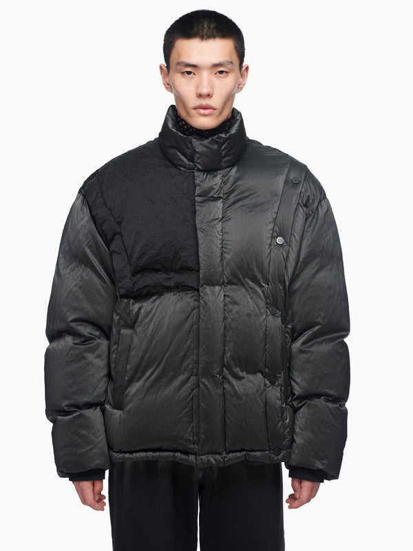 PANELLED DOWN JACKET