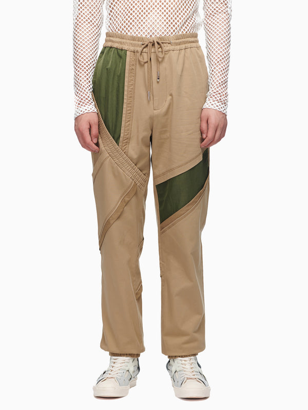 COTTON PANELLED TROUSER