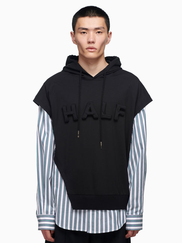 HALF EMBROIDERED HOODIE