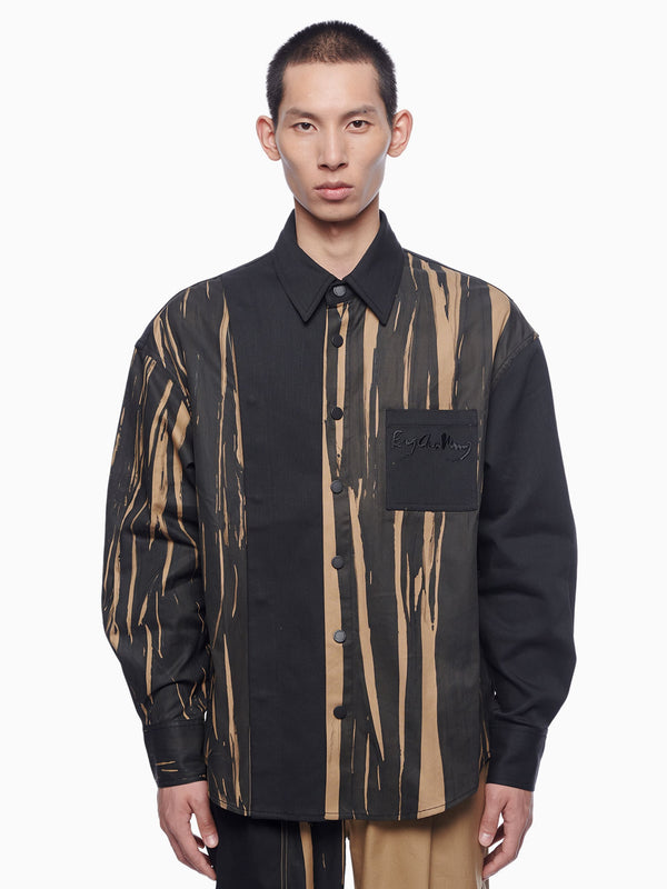HAND PAINTED PANELLED SHIRT