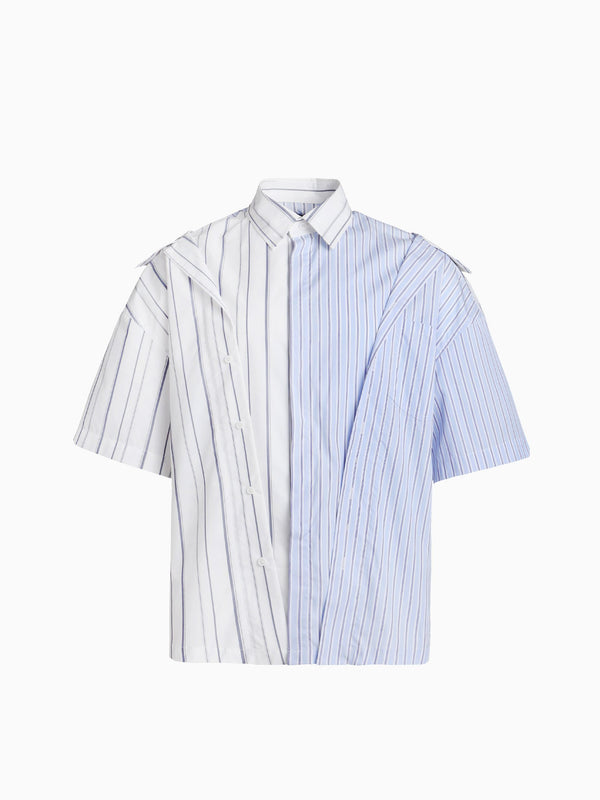 2-IN-1 DRAPED STRIPE SHIRT