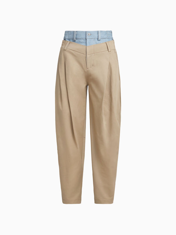 2-IN-1 PLEATED TROUSER