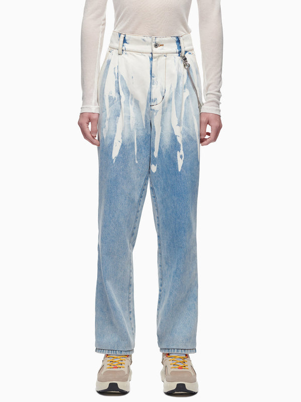 ACID WASH DENIM JEANS