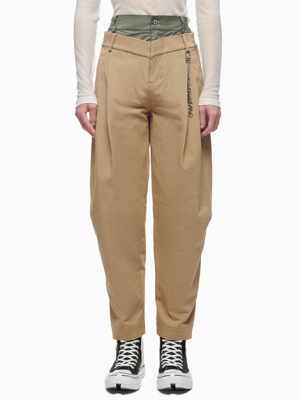 DOUBLE WAISTBAND TROUSERS