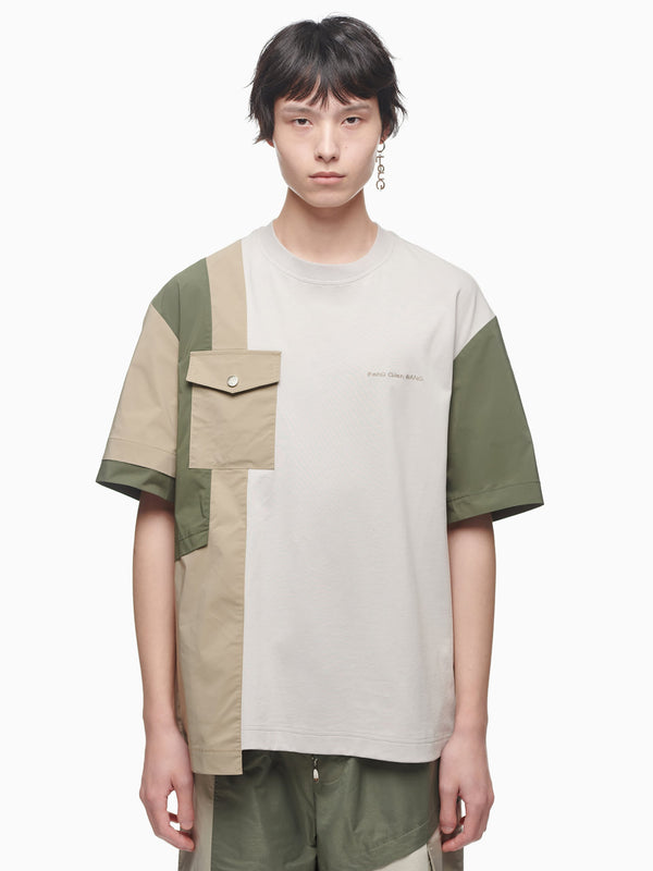 PANELLED T-SHIRT