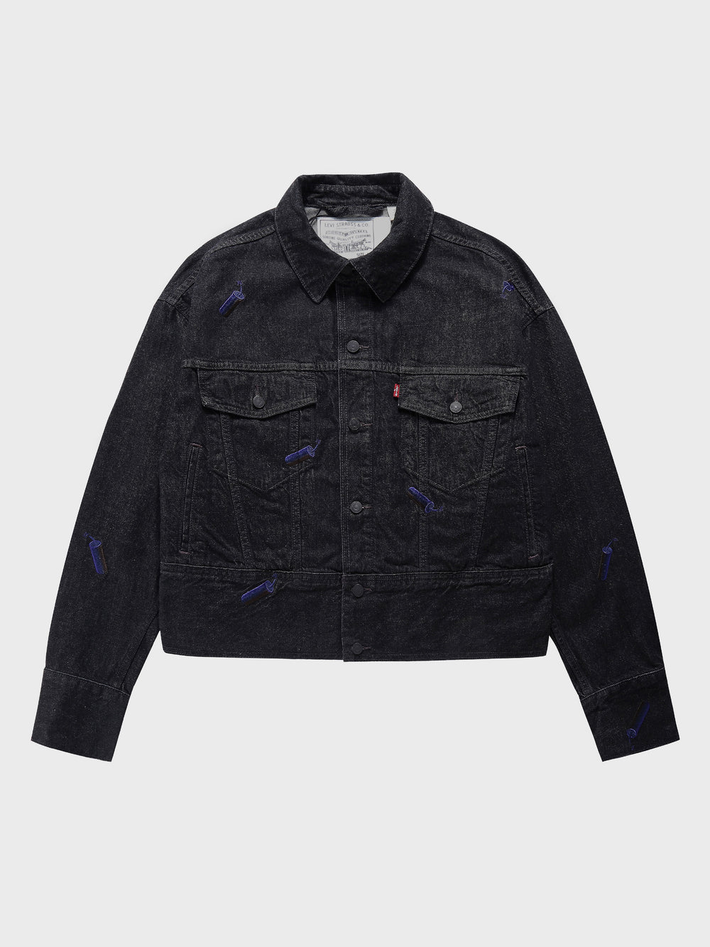 Feng Chen Wang × Levi's > Cropped Denim Trucker Jacket
