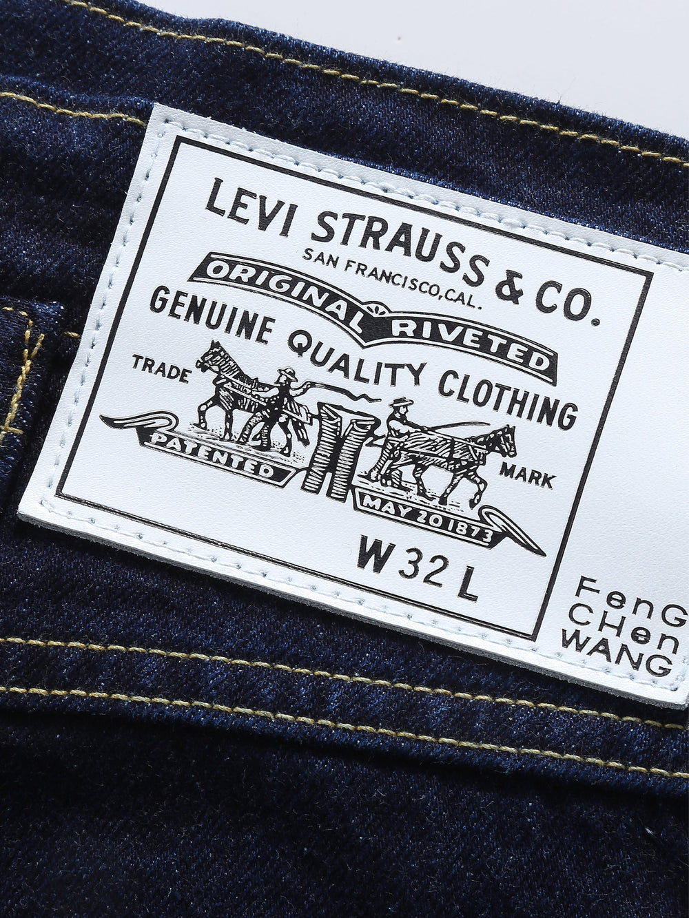 Feng Chen Wang × Levi's > Two-toned Straight Leg Jeans