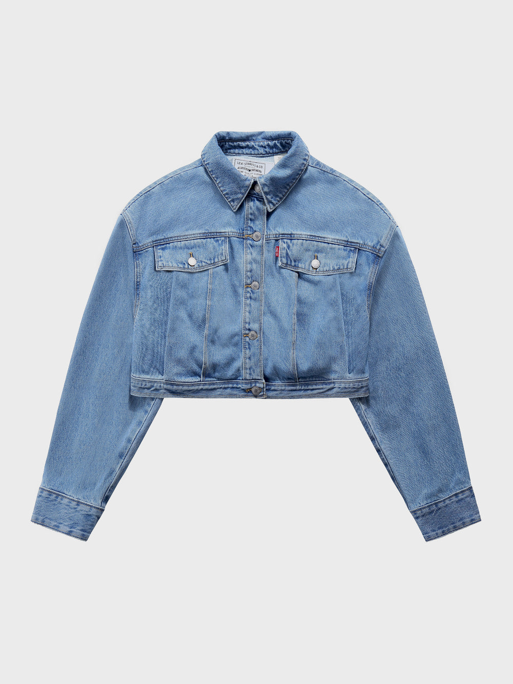 Feng Chen Wang × Levi's > Pleated Cropped Trucker Jacket
