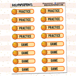 Basketball Practice/Game Sheet