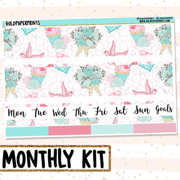Birds and Bows // Monthly View Kit