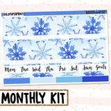 Blue Christmas // Monthly View Kit