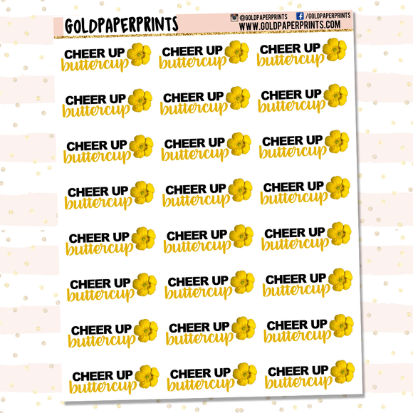 Cheer Up Buttercup Sheet