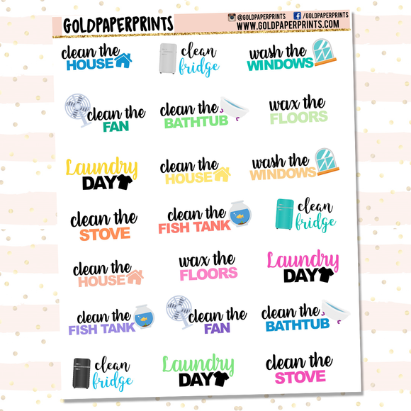 Household Chores Sheet