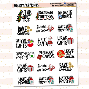 Christmas Bucket List Sheet