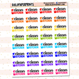 Clean Kitchen Sheet