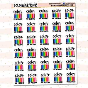 Color w/ Kiddo Sheet