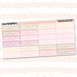 Credit Card Due Headers Sheet
